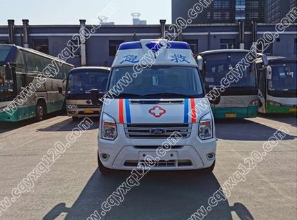 福特全顺V348长轴高顶救护车(监护型福星III)