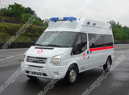 福特全顺V348长轴高顶救护车(02监护型)