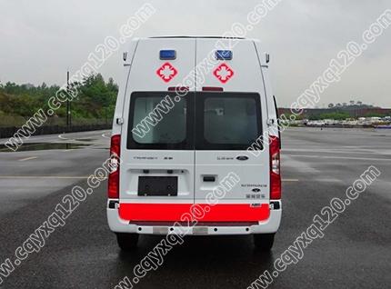 福特全顺V348长轴高顶救护车(转运型)