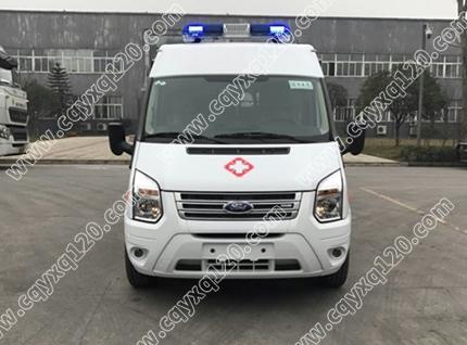 福特全顺V348长轴中顶救护车(转运型)
