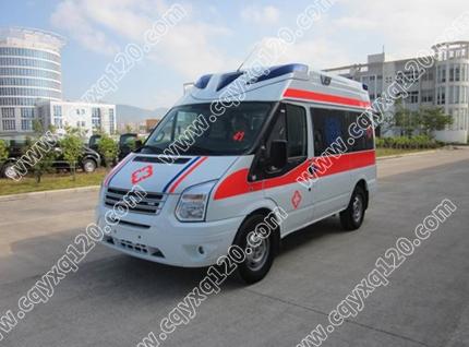 福特全顺V348短轴救护车(超人)