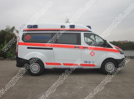 新全顺V362长轴汽油监护型救护车(航空舱)