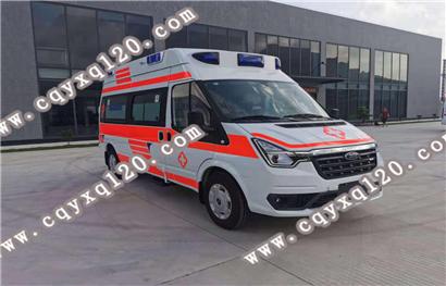 福特全顺V348短轴轴高顶监护型救护车