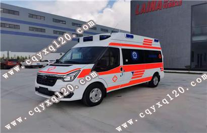 福特全顺V348长轴高顶监护型救护车(pvc)